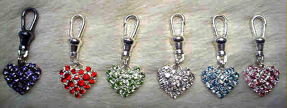 Swarovski crystal heart charms