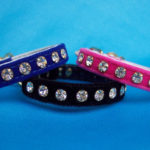 Small dog rhinestone velvet dog collars
