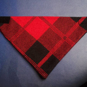 Scottish plaid pet bandana