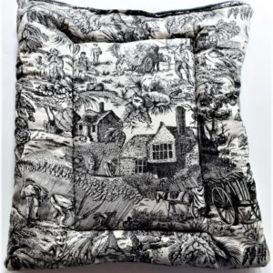 Country Farm French Toile Pet mat.