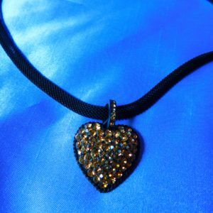 Pave Crystal Heart Pet Necklace