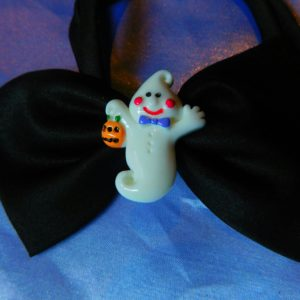 Friendly ghost dog bow tie
