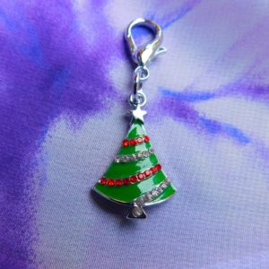 Christmas tree pet collar charm