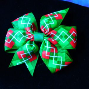 Argyle Holiday Pet Hair Bow