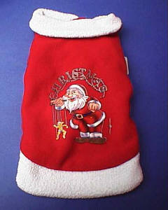 Santa Workshop Fleece Pet Coat