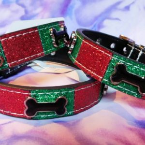 Holiday Ice Cream Bone Dog Collar