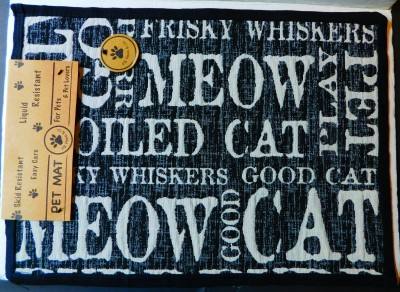 P B Paws CAT MEOW Pet Mat
