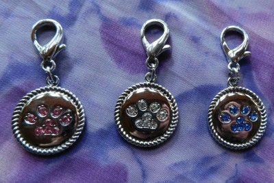 Crystal Lobster Claw Paw Print Medallion