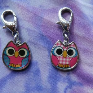 Double sided Owl charm