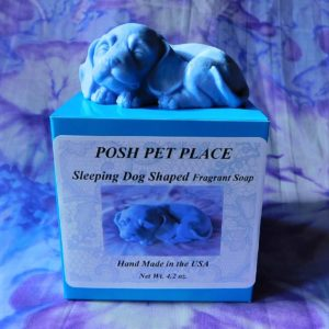 Sleeping dog shaped soap
