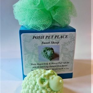 Sheep shaped soap gift set.