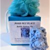Pig shaped soap & shower puff gift set