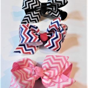 Pet chevron hair bows