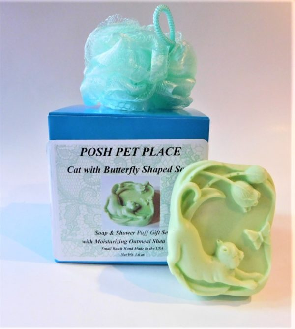 Cat & Butterfly shaped soap gift set.
