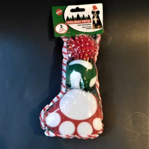 Small Holiday Filled Dog Stocking