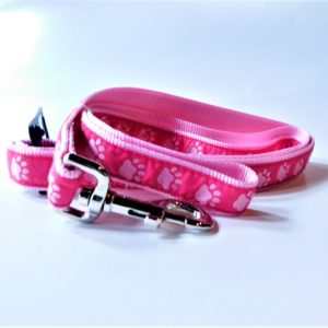 Guardian Gear pink pawprint dog lead leash